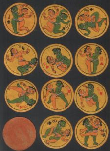 Collectible Non-standard sensual playing cards Kama Sutra